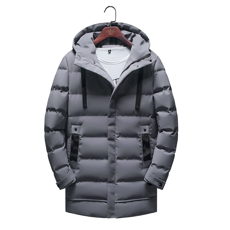Winter New Gray Duck Down Jacket Snow-outwear Thicken Male Warm Coat Long Sleeve Normal Length Overcoat Large Size 3XL-6XL