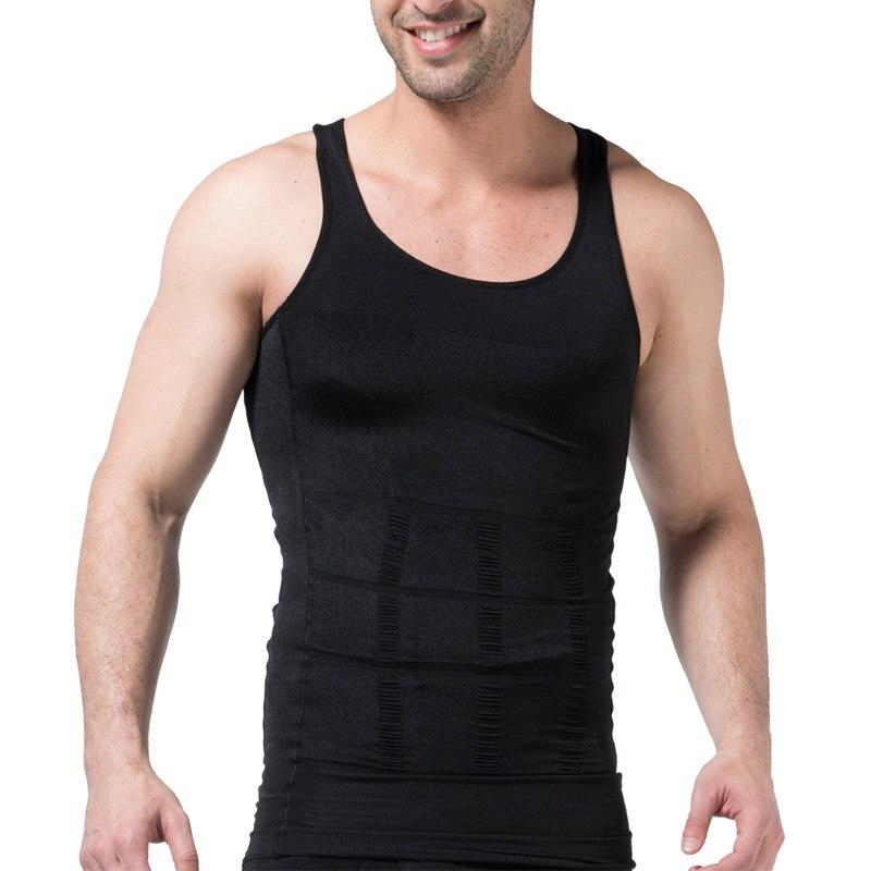 Hot Sale Men Slimming Body Shaper Modeling Underwear Corset Tummy Shapewear Fat Burning Vest Waist Trainer Muscle Girdle Shirt