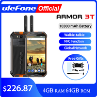 Ulefone Armor 3T IP68 Waterproof Mobile Phone Android 8.1 5.7 FHD+ helio P23 Octa Core 4GB 64GB 21MP Walkie Talkie Smartphone