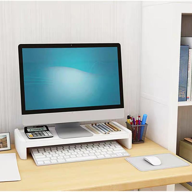 Multifunction Monitor Stand Table Desktop Computer Screen Riser Lockers Desk Organizer Stationery Books Storage Office Supplies 2