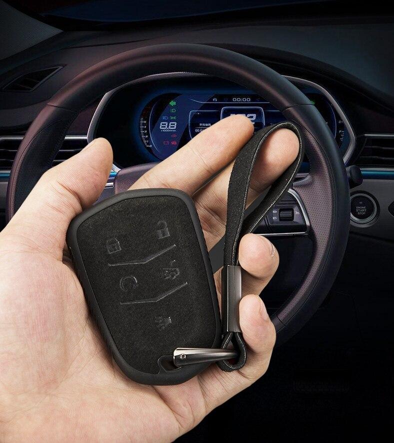Étui à clés en cuir et Tpu pour Cadillac ESV, coque de support pour clé de voiture, accessoires pour Cadillac ESV Escalade, cds XTS SRX ATS 2015 2016 2017 2018 CT5 XT5 XT6