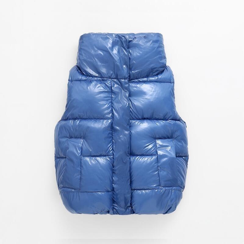 New Fashion Shiny Child Waistcoat Children Outerwear Winter Coats Kids Clothes Warm Cotton Baby Girls Boys Vest For 90-170cm