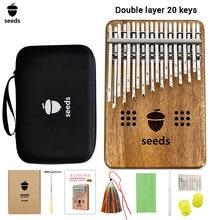 Семена двухслойного пианино kalimba 20 клавиш полый большой
