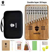 Seeds Double Layer 20 Keys Kalimba Hollow Thumb Piano Acacia Keyboards Mbira Calimba Innovation Musical Instruments