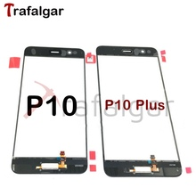 لهواوي P10 شاشة تعمل باللمس محول الأرقام لوحة الجبهة الاستشعار الزجاج VTR L09 L29 VKY P10 زائد شاشة تعمل باللمس + بصمة
