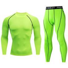 winter Men's Thermal underwear Base layer thermal Sportswear Men's Sports Compression Running Tights