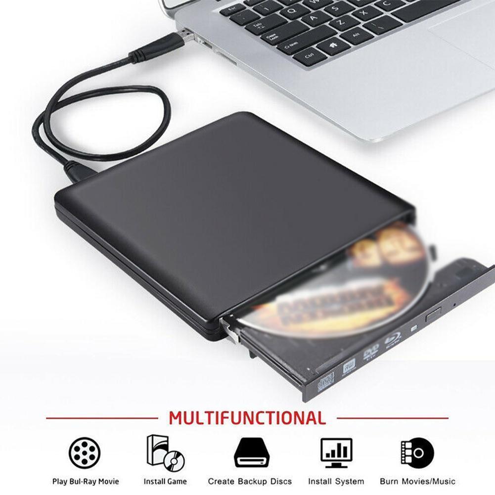 New External Blu-Ray Burner Drive USB3.0 DVD Players 3D Slim Optical Drive Blu-Ray Writer Reader CD/DVD Burner for Windows/IOS