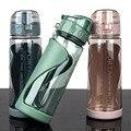 Спортивные бутылки для воды, Герметичный портативный шейкер с защитой от падений для тренажерного зала, уличный дорожный чайник, пластиков...