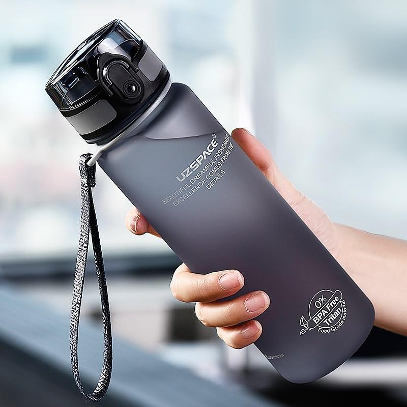 Hot Sports Water Bottle 500ML 1000ML Protein Shaker Outdoor Travel Portable Leakproof Drinkware Plastic My Drink Bottle BPA Free 2