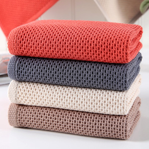 Image 4 - Beroyal Brand 1PC 100% Cotton Hand Towels for Adults Plaid Hand Towel Face Care Magic Bathroom Sport Waffle Towel 33x72cm