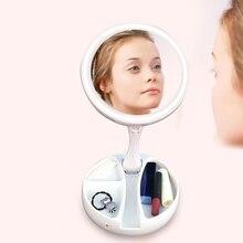 Перезаряжаемая настольная лампа, складная, портативный, светодиодный, зеркало для макияжа, с переключателем диммера для макияжа, для рабочего стола, ванной, путешествий