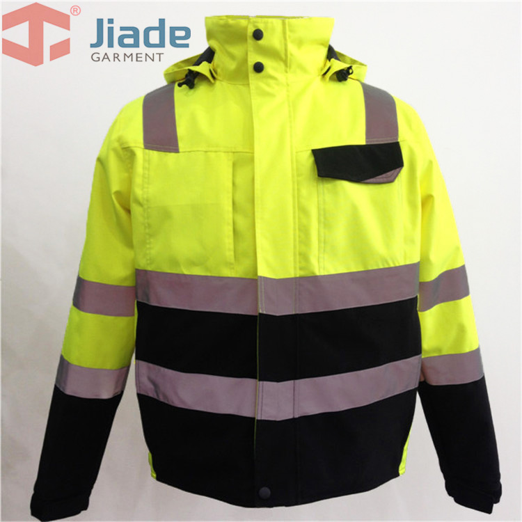 Jiade Men's Work Wear Winter Jacket Reflective Winter Jacket High Visibility WinterJacket EN471/ANSIWinter Jacket  Free Shipping