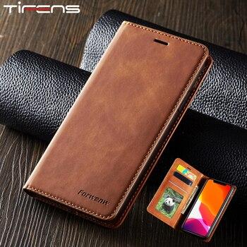 Etui en cuir magnétique pour iPhone 11 Pro XS Max XR 7 8 6 6s Plus 5s SE portefeuille de luxe porte-cartes à rabat