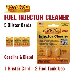 Dyno Tab Of the Fuel Injector Cleaner Petrol Gasoline & Diesel Fuel Economy Saver Carbon Cleaner (3 Blister Cards)