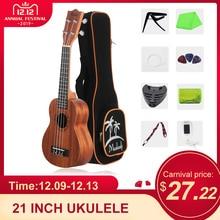 21 дюймов укулеле Укулеле сопрано из красного дерева с сумкой ремень uke струны клип-на тюнер ткань для чистки пальцев maraca медиаторы