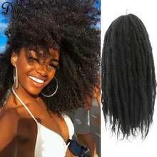 Hair-Extensions Hair-Marley Braids Crochet Soft-Afro Kinky Natural Synthetic Ombre 18inch