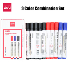 Pen-Color Erasable Whiteboard Office-Supplies Drawing-Makers Deli Black Water-Based Children