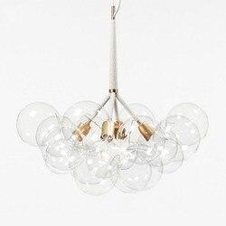 9/12/20 moderno arte burbuja de vidrio Molecular araña de diseño de moda comedor dormitorio cocina línea de araña