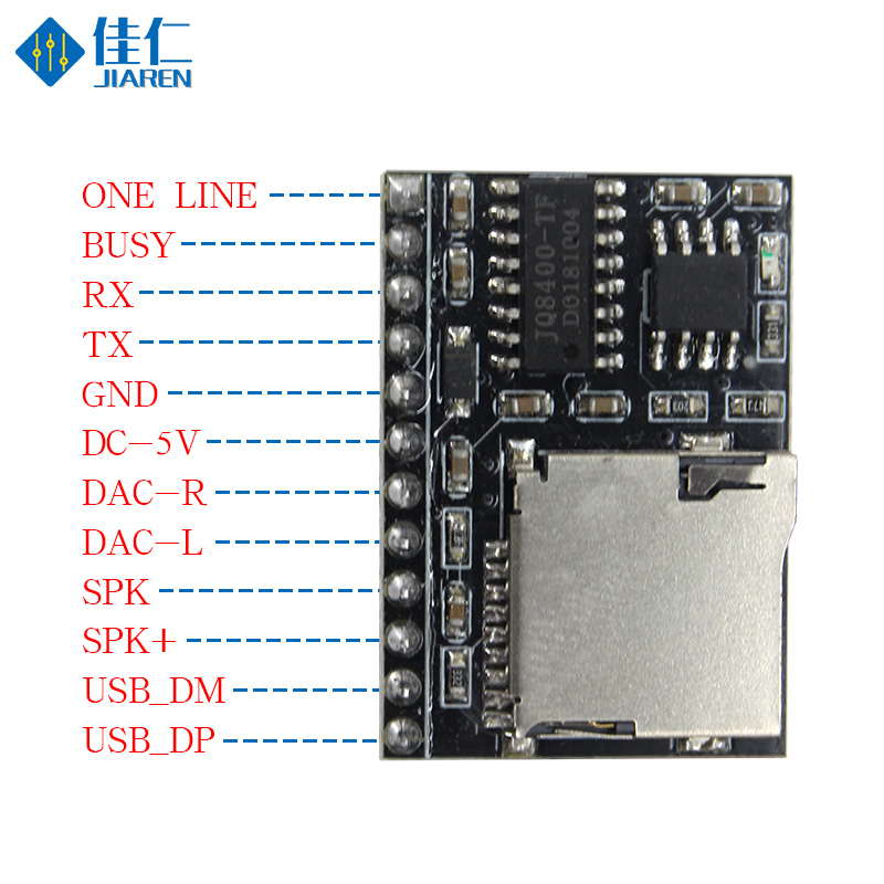 DFPlayer Mini MP3 3W Amplifier Serial Port Control MP3 Voice MP3 Player Module Support TF Card