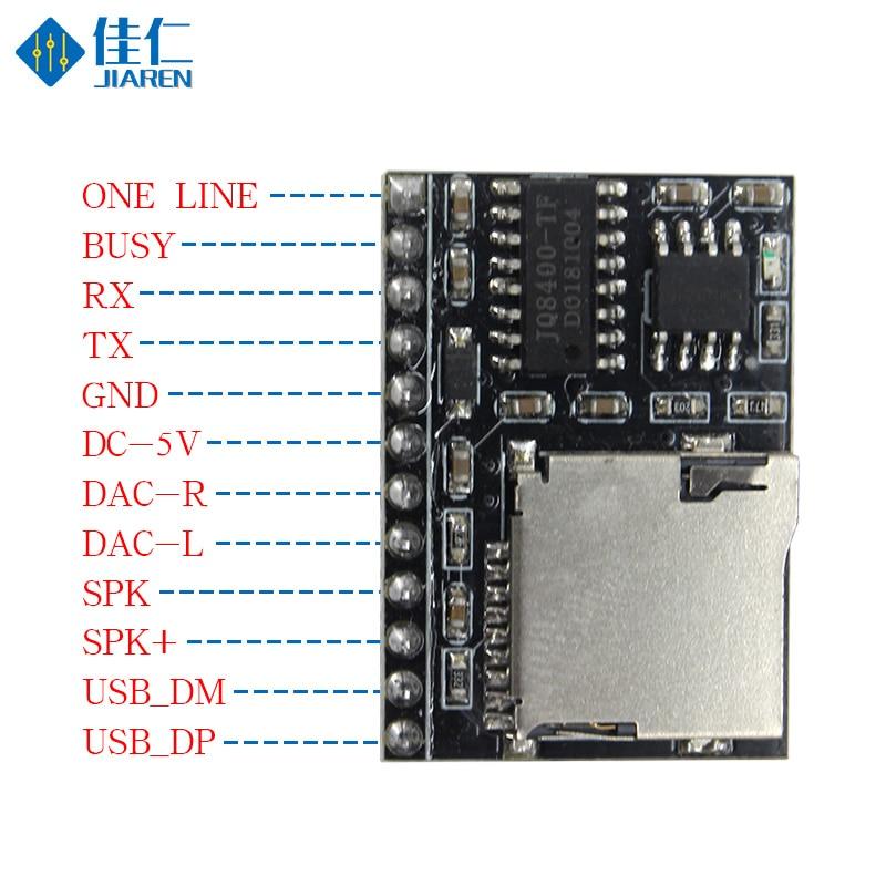DFPlayer Mini MP3 3W Amplifier Serial Port Control MP3 Voice Module Support TF Card