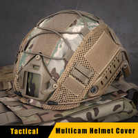Tactical Multicam Helmet Cover for FAST Airsoft Helmets Paintball Wargame Gear Ballistic Helmets Cover 11 Colors