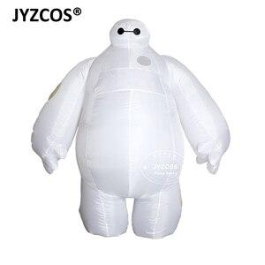 Image 1 - Jyzcos大人インフレータブルbaymax衣装ハロウィンコスプレ衣装新ビッグヒーロー 6 マスコットコスチュームパーティーファンシードレス男性の女性のため