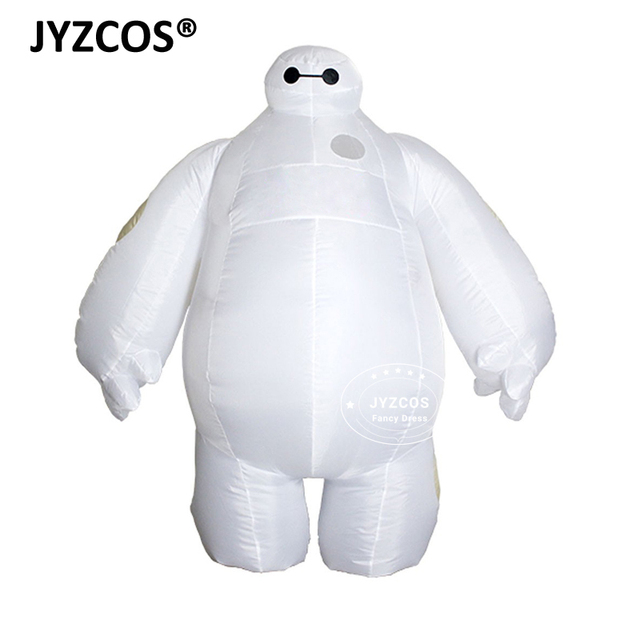 Jyzcos大人インフレータブルbaymax衣装ハロウィンコスプレ衣装新ビッグヒーロー 6 マスコットコスチュームパーティーファンシードレス男性の女性のため