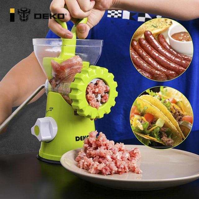 DEKO Manual Meat Grinder Multifunctional Vegetable Chopper Blender Mincer Enema Machine Household Kitchen Tools 1