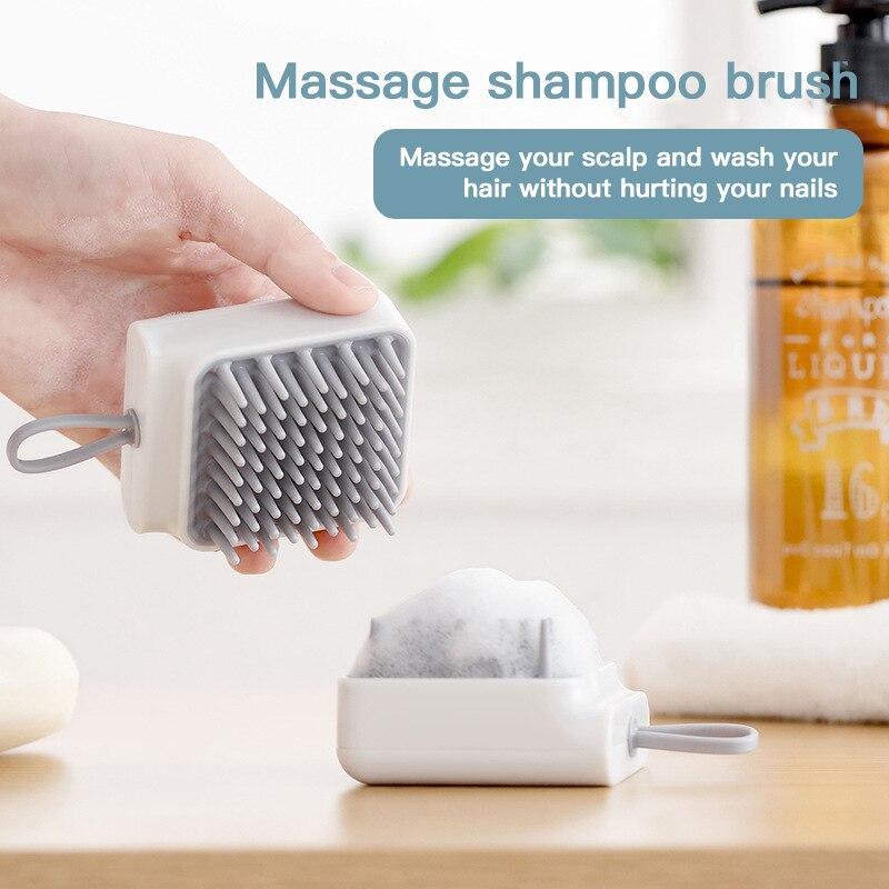 Silicone Head Massager Head Body Scalp Massage Brush Comb Shampoo Hair Washing Comb Shower Brush Bath Spa Slimming Massage Brush
