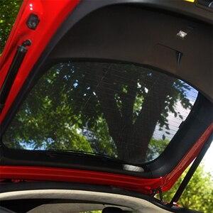 Image 4 - Für Tesla Model S Sonnenschirm Faltbare Mesh Schiebedach Sonnencreme UV Isolierung Schatten Geändert Auto Regenschirm Auto Dekoration Zubehör