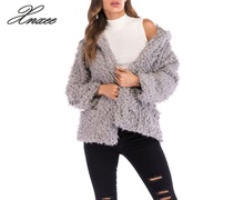 Outwear Faux Lamb Fur Coats Parkas Winter Jackets Women Cardigans Jaqueta Feminina Tops Xnxee