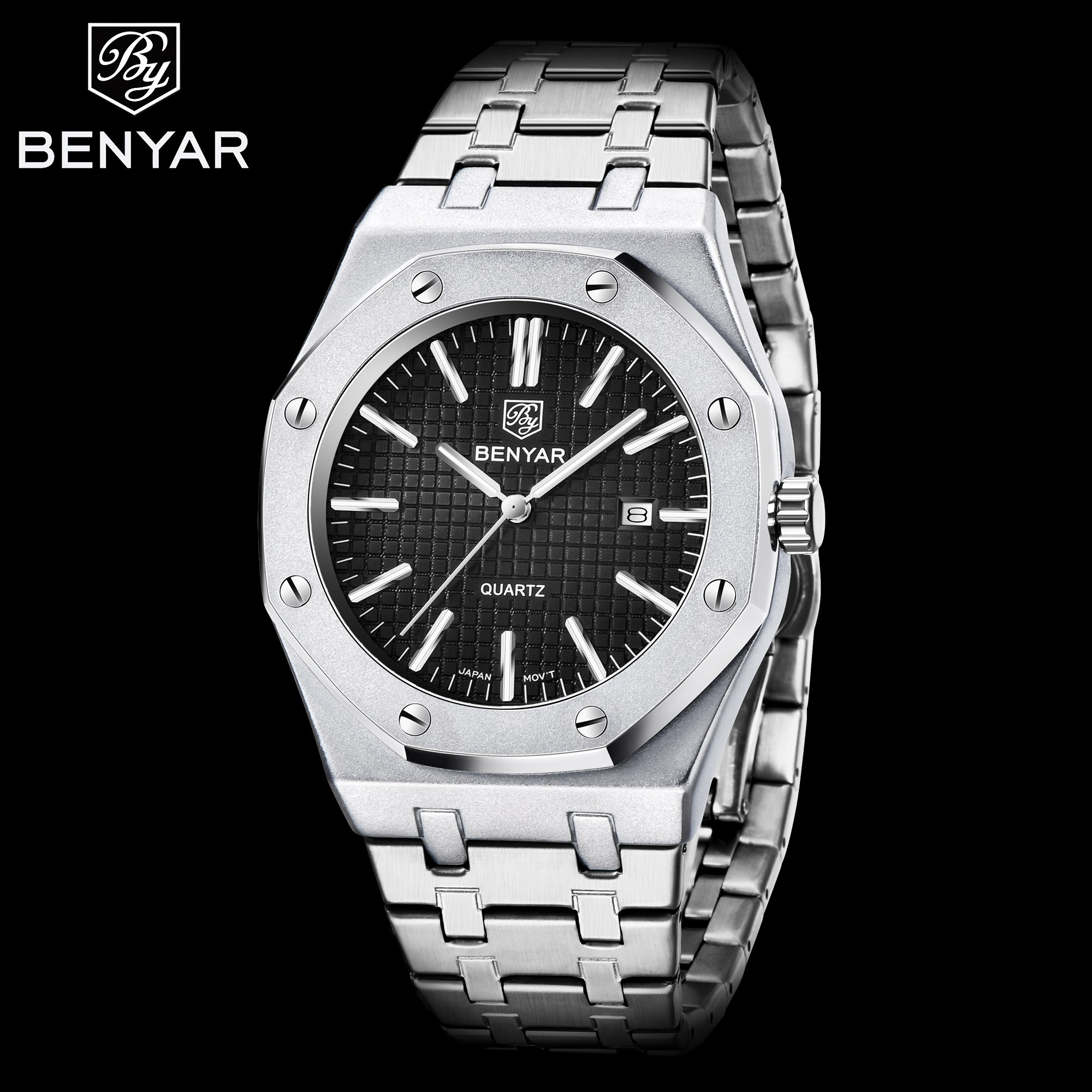 BENYAR 2020New Mens Watches Luxury Brand Quartz Sport Watch Men Stainless Steel Band Military Waterproof Watch Relogio Masculino|Quartz Watches| |  - title=