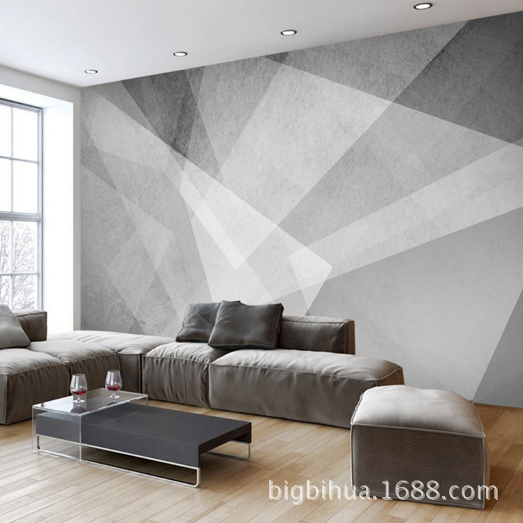 TV Backdrop Northern European-Style Living Room Bedroom Sofa Geometry Wallpaper Minimalist Modern Wallpaper 3D Mural Wall Cloth