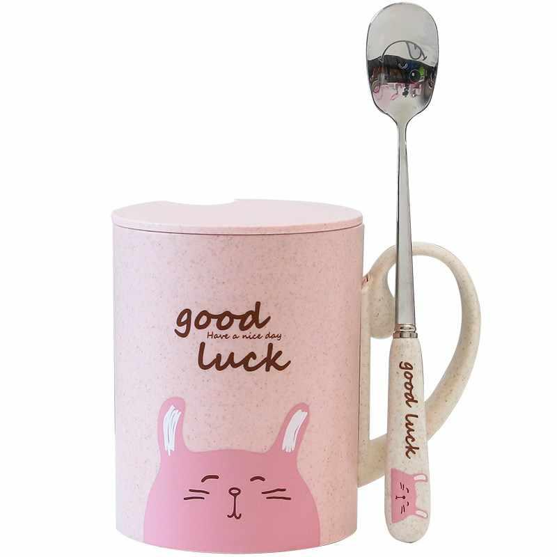 Tazas para bebés, taza para agua leche zumo, taza para niños, taza de leche para bebés con asa y tapa y cuchara, taza para desayuno y bebida