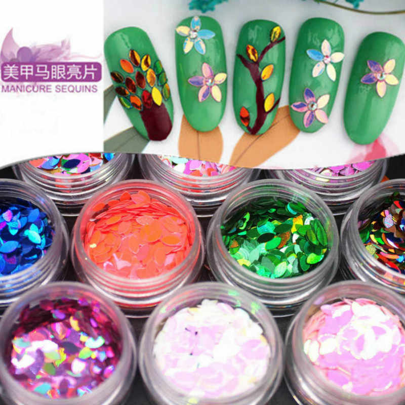 1 ขวดสีม่วงRhinestone Glitter Starหัวใจดอกไม้เล็บชุดสติกเกอร์เล็บอุปกรณ์ตกแต่งDIY Craft Supplies