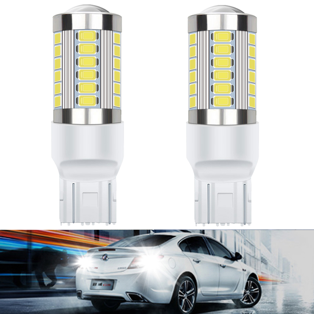 2x LED T20 7443 W21W Bulb1156 BA15S P21W Canbus No Error Auto Backup Reverse Lamp Car Lamp Brake Bulbs white red orange 12V image