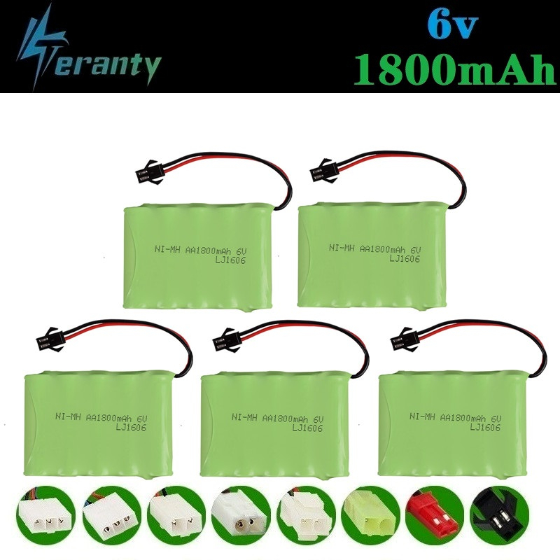 ( M Model ) 6v 1800mah NiMH Battery For Rc toys Cars Tanks RC Robots Boats Truck Guns 6v Rechargeable Battery AA Battery Pack image