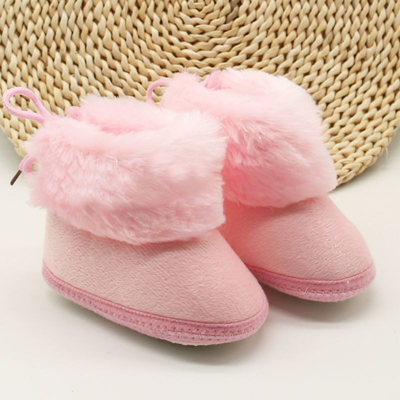 2 Colors Winter Newborn Infant Toddler Girls Boys Baby Kids First Walkers Shoes Booties Soft Soled Warm Crib Shoes