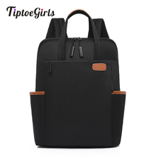 Laptop Backpack Oxford-Fabric Travel Functional Casual Fashion Business Solid Women Portable-Bag