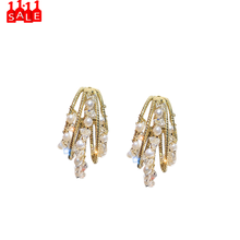 Temperament Geometrische Multishape Diamant Multicolor Ohrringe Element Stud Ohrringe Frauen Großhandel Damen Schmuck Fabrik # ZC(China)