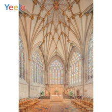 Yeele Scenery Gothic Wood Church Interior Wedding Photography Backdrops Personalized Photographic Backgrounds For Photo Studio