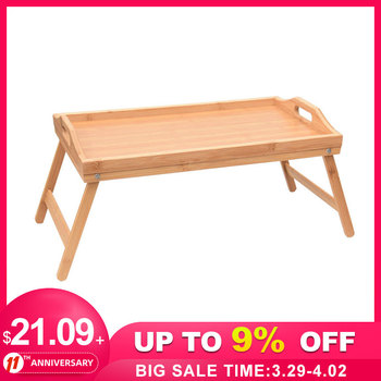 Wooden Portable Foldable Computer Laptop Desk Adjustable Notebook Desk Table Bed Sofa Breakfast Tray Picnic Table Studying Table 1