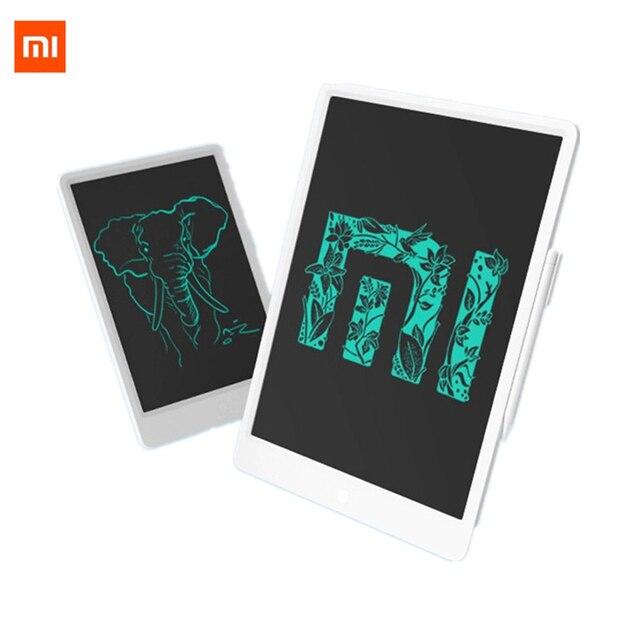 """Xiaomi mijia lcd tablet de escrita em estoque com caneta 10/13. placa gráfica de caligrafia eletrônica desenho digital 5 """", bloco de mensagem"""