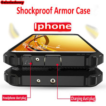 Luxury Shockproof Armor Case Cover On The For IPhone 8 7 6 6s Plus XR XS Max X Bumper Case For IPhone 5 5s SE Soft Back Cases(China)