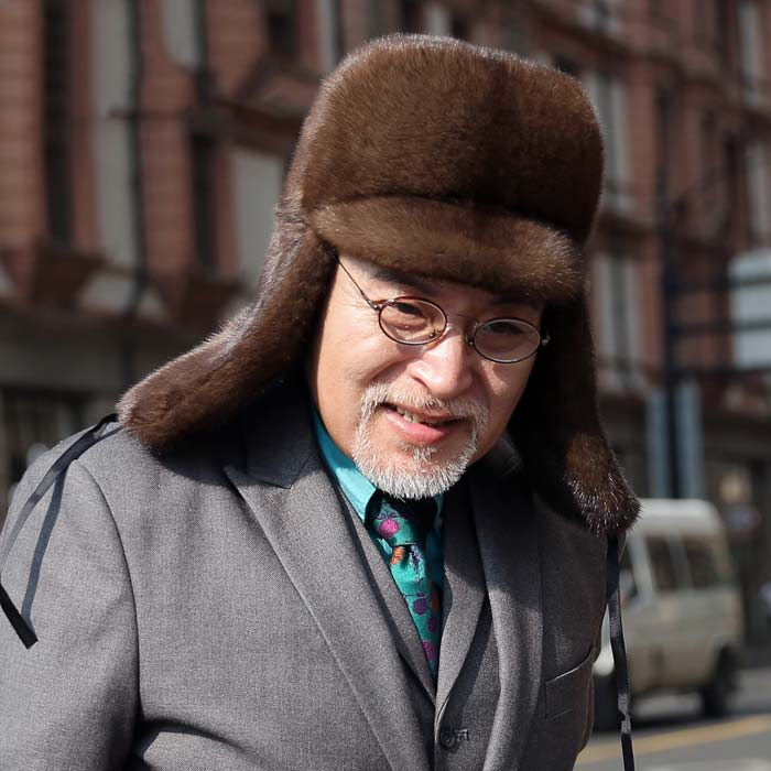 Whole Mink Mink Fur Grass Hat Cap Full Mane Big Earmuffs Men Winter Warm