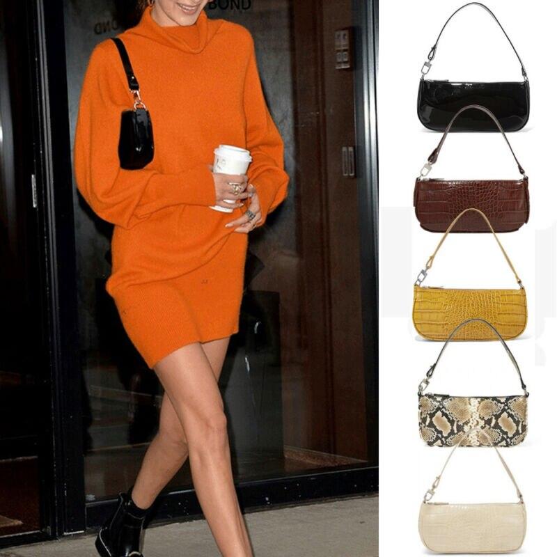 Women Ladies Fashion 90s Single Straps Vintage Shoulder Mini Bag Oxford Handbag
