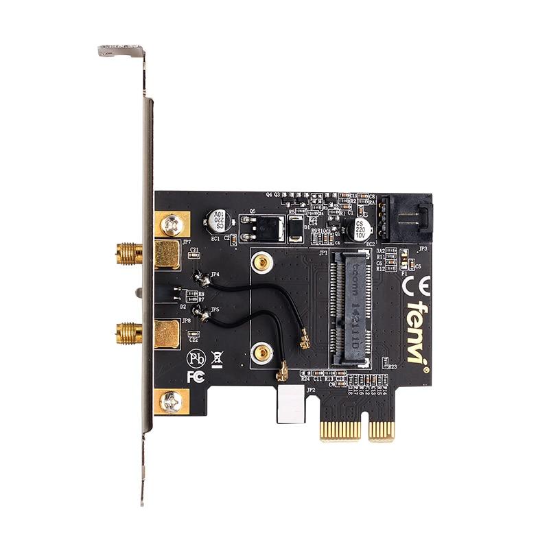 Mini PCI-E to PCI-E Desktop Wifi Adapter Converter For Intel 3160HMW 7260HMW