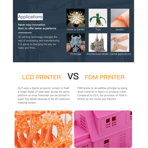 Image 4 - Anycubic פוטון S SLA 3d מדפסת DIY UV שרף 3d מדפסת ערכת שיניים כפולה Z ציר לייזר מבצע impresora 3d drukarka 3d Jewerly