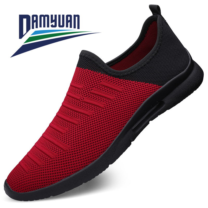 Damyuan Running Shoes 2020 Summer Men's Sneakers Slip-on Comfortable Non-slip Wear-resistant Lightweight Men Sports Shoes