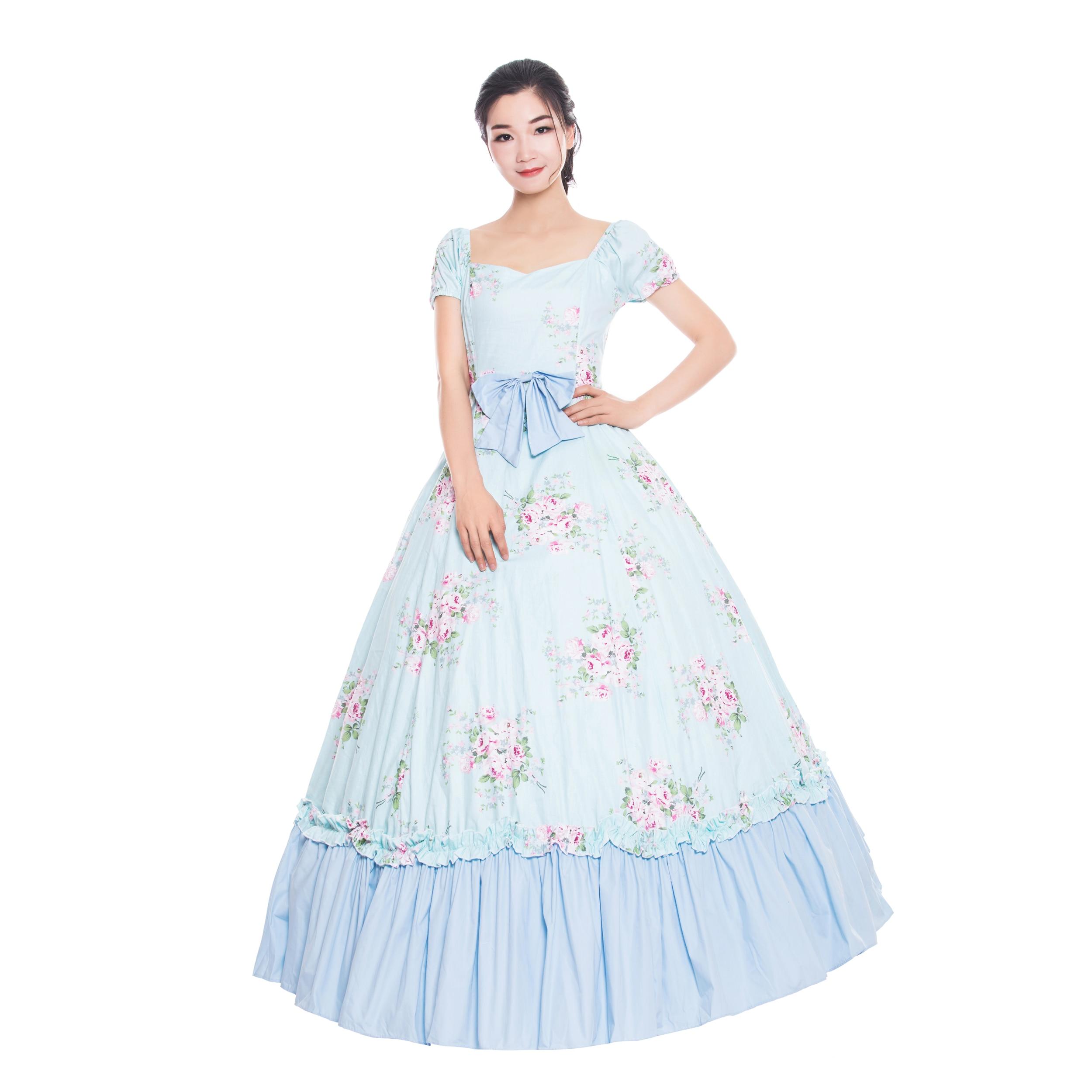 Offre spéciale femmes sud Belle princesse sauvage ouest Saloon robe de bal robes victoriennes princesse fête Rococo robe US6-26